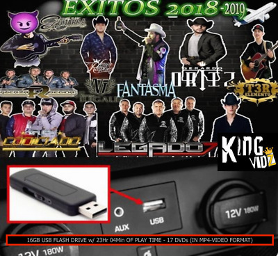 2014-2019 Narco Corridos 300+ Music Videos mp4-Video Format 16GB USB FLASH DRIVE