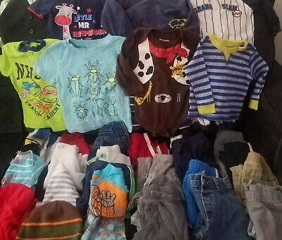 HUGE 36 Piece Lot Of Clothing Baby Boy's Size 12 Months Batman Ninja Turtles