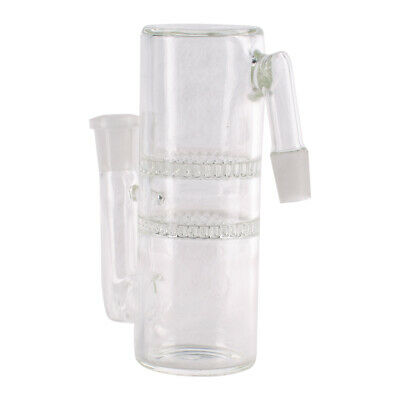 Ashcatcher Double Honeycomb Clear Glass Thick Walled Male to Female 14mm