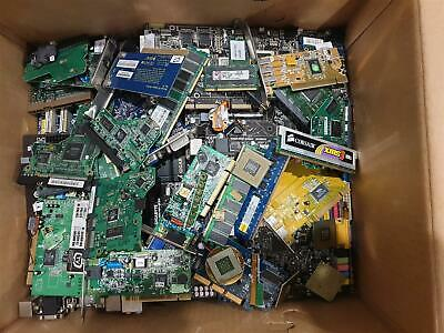 Scrap computer parts for preciouss metal recovery