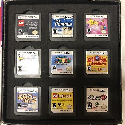 Nintendo DS Game Lot Bundle of 9 Cartridge Only - Super Mario, Sims, Lego