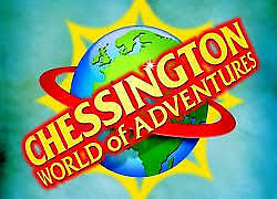 2 E-tickets Adult Chessington world of adventures Friday 6th of September