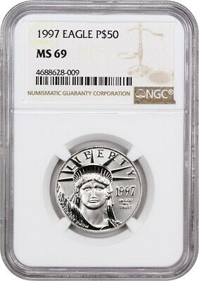 1997 Platinum Eagle $50 NGC MS69 - Statue Liberty 1/2 oz