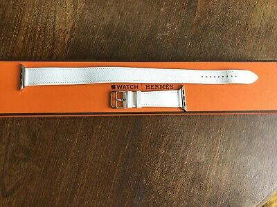 Bracelet Hermès apple watch 38mm double tour coloris blanc Val 519€