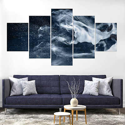 Abstract Atistic Backdrop Canva Print Painting Framed Home Deco Wall Art Picture