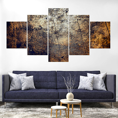 Wood Abstract Canvas Print Painting Framed Home Decor Wall Art Picture Poster