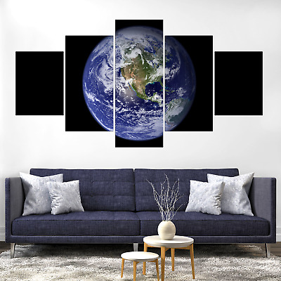 Planet Earth Canvas Print Painting Framed Home Decor Wall Art Picture Poster Pic