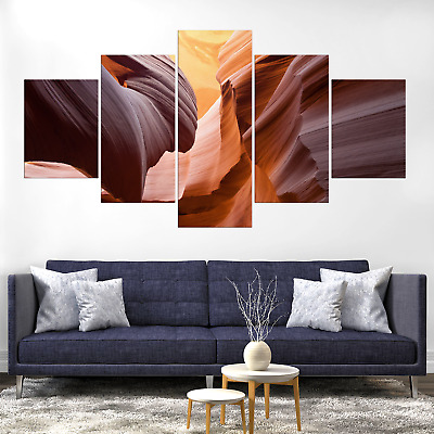 Antelope Canyon Arizona Abstract Canva Print Painting Home Deco Wall Art Picture