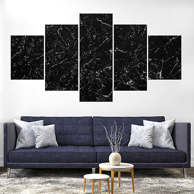 Dark B&W Abstract Canva Print Painting Framed Home Decor Wall Art Picture Poster
