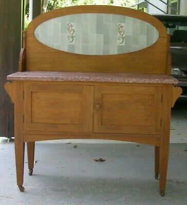 Vintage/Antique - washstand - maple - original - in need of restoration