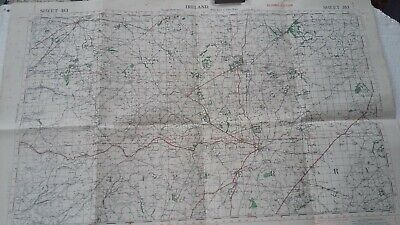 Map Ireland Tipperary Queens Country Kilkenny War Office Linen Back 1941