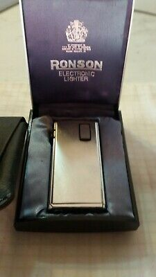 Ronson Varaflame Electronic - Raro - Scatola Etc -Vintage Lighter....