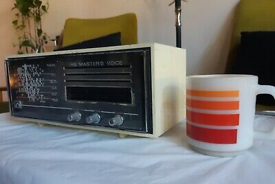 Vintage 1970s HMV His Master's Voice 6855 AM Radio. Made in Australia (working)