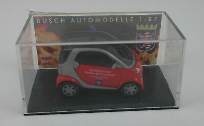 Busch 489307 Smart City Coupe - Fire Brigade Hesse New/Boxed
