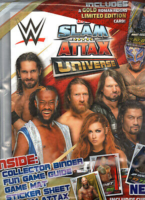 WWE Slam Attax Universe Roman Reigns Seth Rollins Becky Lynch Kofi Kingston