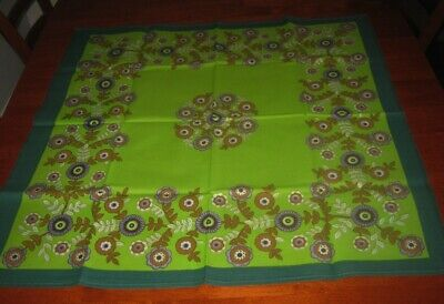 Vintage Supper Cloth ~ Lime Green ~ Cotton ~ Square ~ New