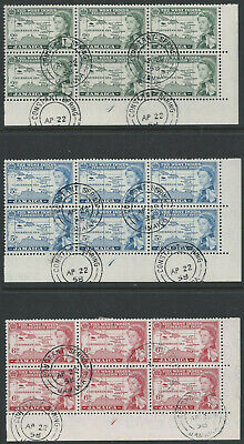 JAMAICA: 1958 Federation block of 6 CTO 4 cancels ( 2 scans ).