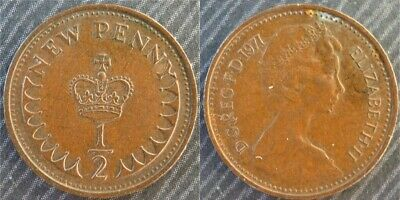 GREAT BRITAIN # 1/2 new penny 1971