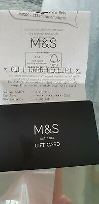 Marks and spencer Gift Card. £131