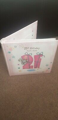 ME TO YOU BEAR TATTY TEDDY 21ST BIRTHDAY RIBBON PHOTO ALBUM GIFT