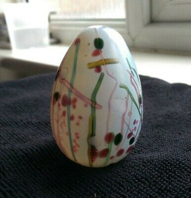 Vintage Isle of Wight Studio Glass Egg Paperweight - 'Kyoto' by Michael Harris