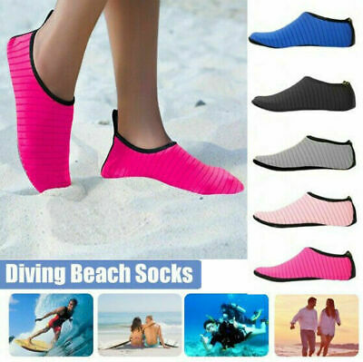 UK Women Men Water Shoes Aqua Socks Diving Socks Wetsuit Non-slip Swim Beach Sun