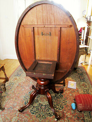 Victorian Antique Loo Table Tilt Top - solid mahogany, fully restored