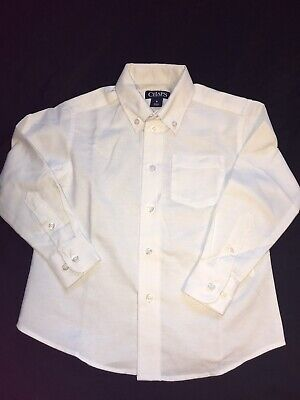NWOT Chaps Ralph Lauren Toddler Boy Dress Shirt Button Down White Sz 4