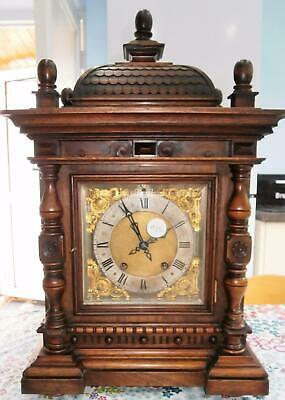 Walnut R.S.M. Ting Tang Bracket Clock in Good Working Order