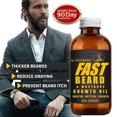 FAST BEARD GROW XL Beard & Mustache Accelerator - #1 FACIAL HAIR GROWTH OIL!