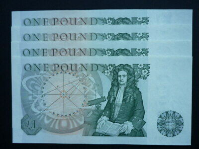 Bank of England One Pound Notes, consecutive numbers from 1978