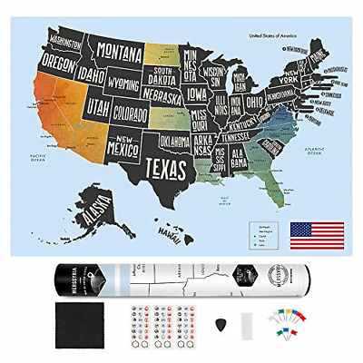 SCRATCH OFF MAP United States - USA Scratch Travel Map - US ...