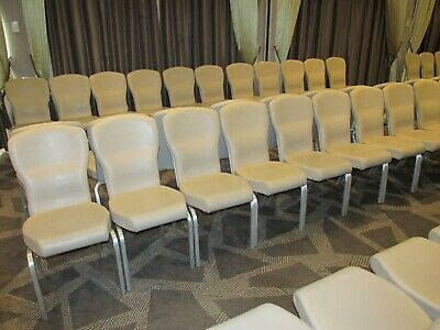 Leather banquet stacking chairs - 250 AVAILABLE