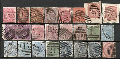 Q Victoria Large Used Group Many Fine Cancels