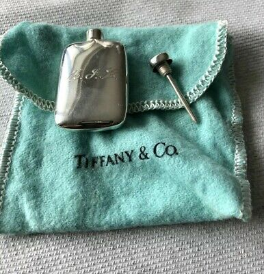 Vintage TIFFANY & CO Perfume Flask STERLING Mini Scent Bottle Monogram