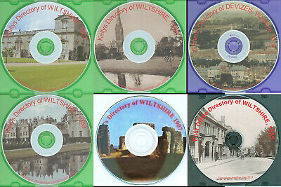 WILTSHIRE KELLY's DIRECTORY 1867, 1898, 1903, 1907 Genealogy CD - select option