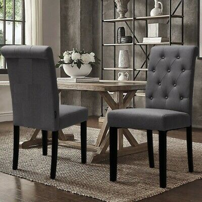 Grey Velvet Restaurant Dining Chair Solid Wooden Legs High Back Upholstered Seat