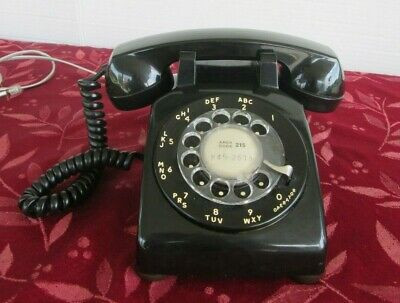 Vintage Stromberg-Carlson Black Rotary Dial Desk Phone Telephone -WORKING