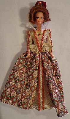 Barbie Doll Great Eras Collection Elizabethan Queen Royalty 1994 Or 1995 #12792