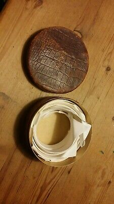 Vintage COLLARS of England Leatherette Collar Box with 10 collars