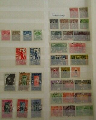 French Colonies Stamps COLLECTION - DAHOMEY - Used / Mint - r106e9130
