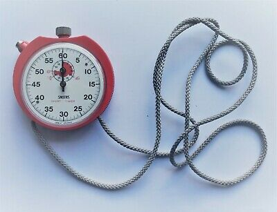 Smith's Vintage Sport Timer Stopwatch - Red