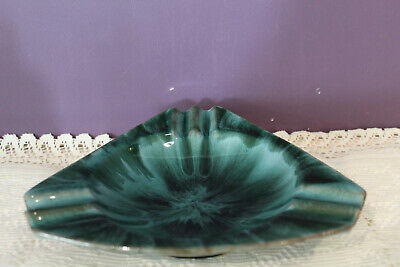 Vintage Blue Mountain Pottery Ashtray Green Glaze Marked Bmp Canada