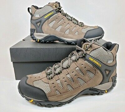 eff8fdad MERRELL ACCENTOR MID Vent WP Mens 10M M.Stone/Old Gold Hiking Walking Shoes  Boot