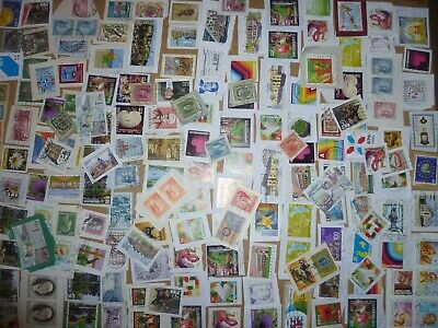 40 grams mixtures Luxembourg stamps on single paper kiloware