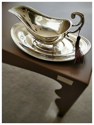 Vintage Silver Plated Sauce/ Gravy Boat with tassel