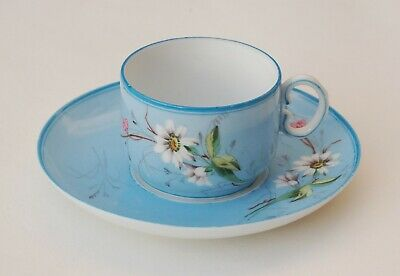 Rare Antique GARDNER IMPERIAL RUSSIAN PORCELAIN PAINTED CUP & SAUCER 19th C
