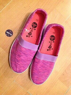 Lovely Girls Hullabaloo Purple/pink Slip On Trainers, Size 13 New Shop Clearance