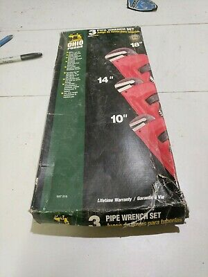 Pipe Wrench Set New In Box Plumbers Wrench
