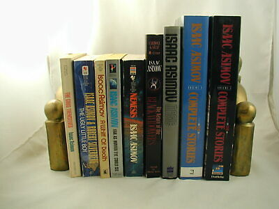 Isaac Asimov 9 Books Classic Science Fiction Mysteries Stories Novels Essays